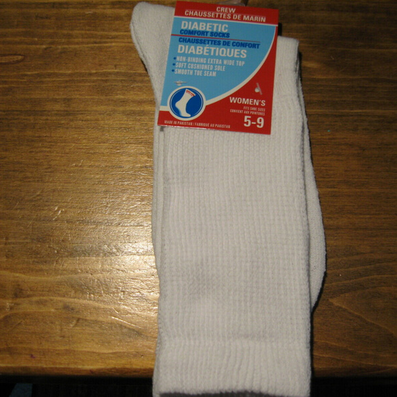 Non Socks Women's 3 Pack Diabetic Binding Crew Nwt TFK1Jcl